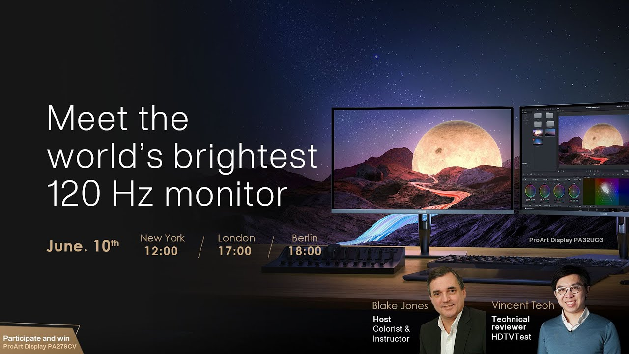 Video Cover of Meet the world's brightest 120 Hz monitor