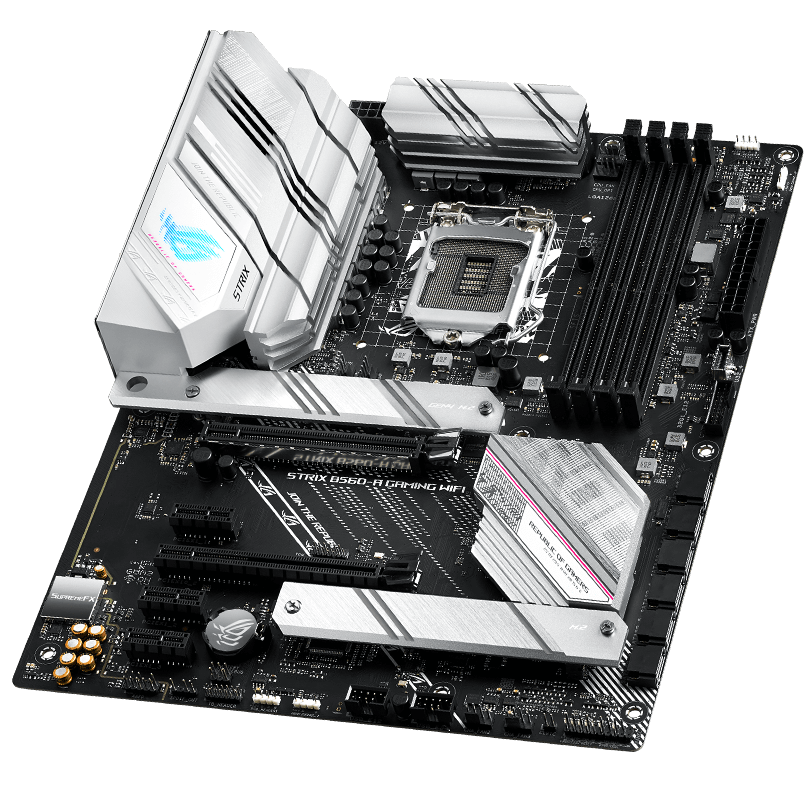 Front view of ROG Strix B560-A Gaming WIFI