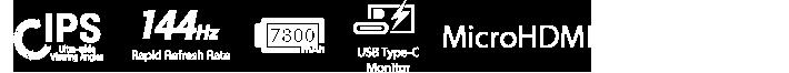 Bundle with ROG Tripod, IPS, 144Hz Rapid Refresh Rate, 7800mAh, USB Type-C Monitor, MicroHDMI