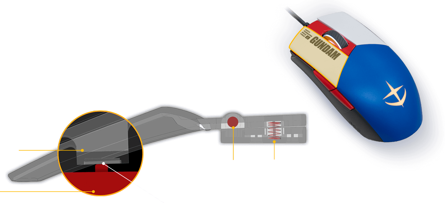Pivoted Button Mechanism