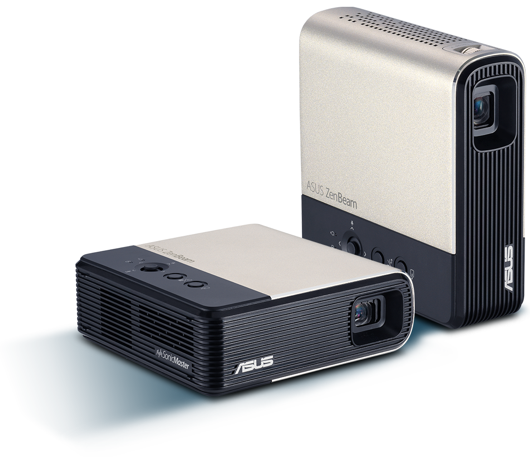 1.ASUS ZenBeam E2 weighs only 410 grams 2.Ultra-compact dimensions of 110 x 37 x 107 mm