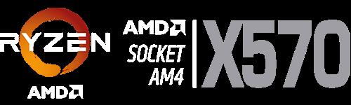 RYZEN AMD, AMD SOCKET AMT | X570 logo