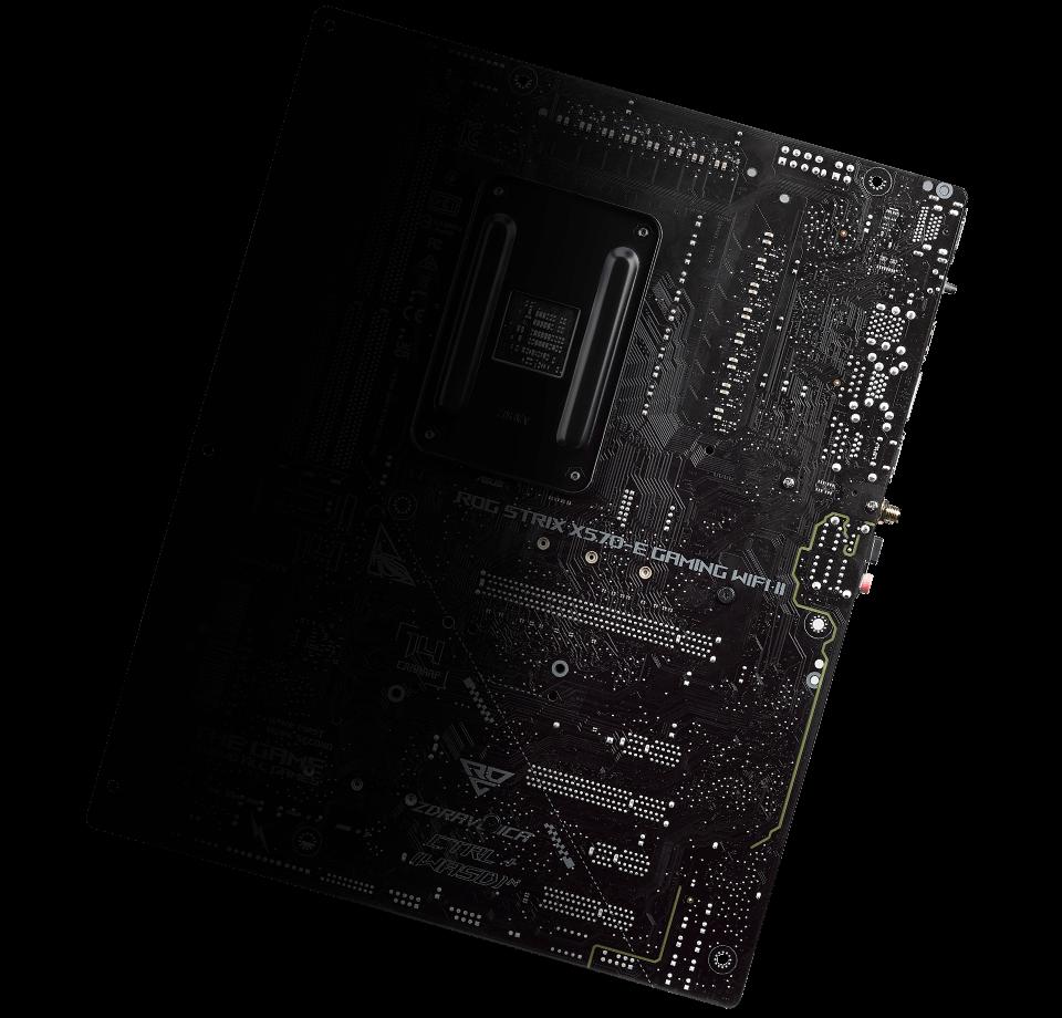 Back view of ROG Strix X570-E Gaming WiFi II