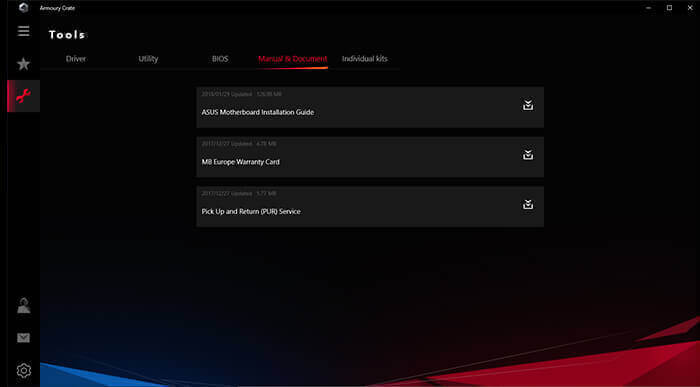 Armoury Crate UI - DRIVER & MANUAL DOWNLOAD