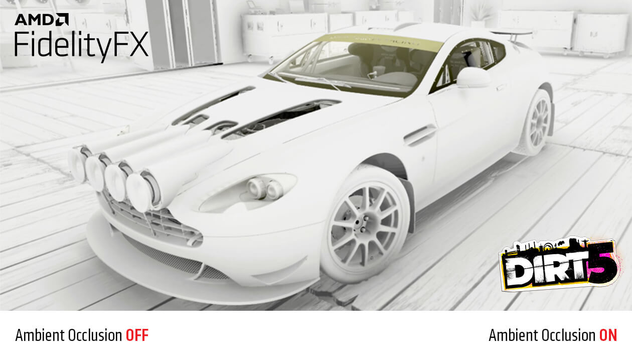 Funkcia FidelityFX Ambient Occlusion zapnutá
