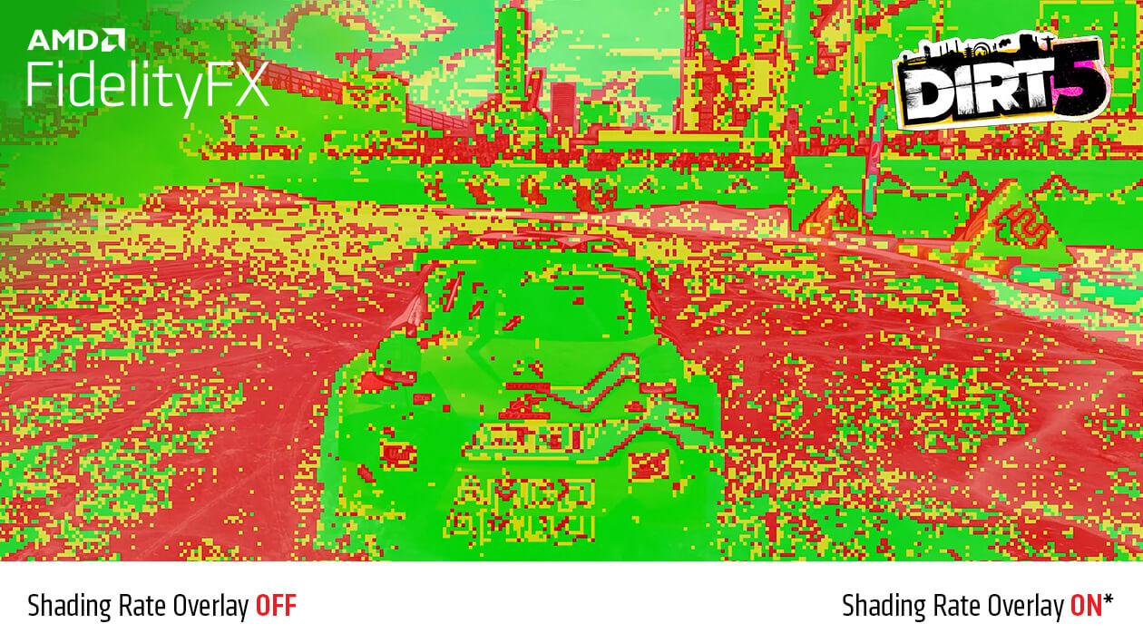 Funkcia FidelityFX Variable Shading zapnutá