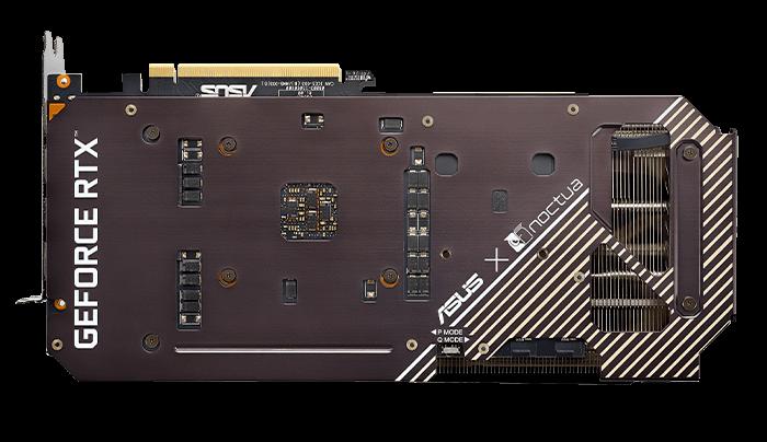 ASUS GeForce RTX 3070 Noctua Edition Armored Underside
