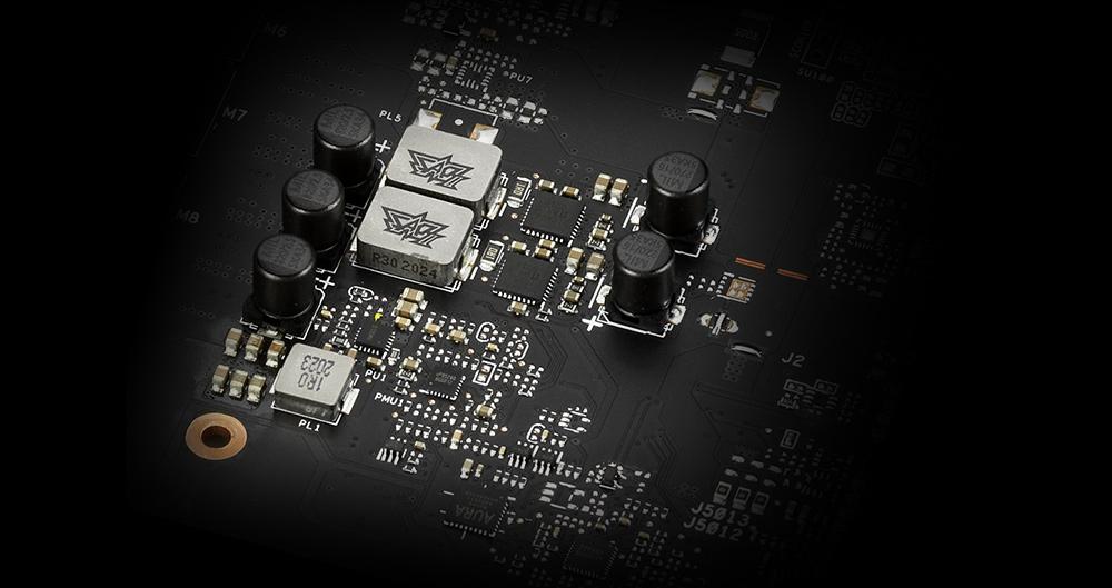 ASUS RTX 3060 Ti 8GB KO OC GAMING có các tụ điện tuổi thọ lâu hơn 2,5 lần