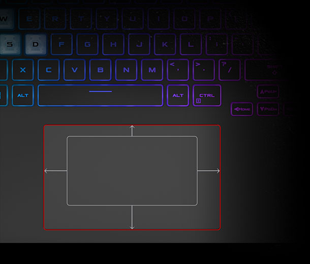 Bigger touchpad