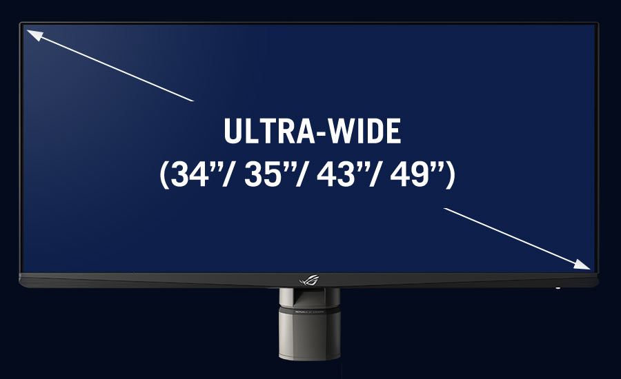 "Ultra-wide (34""/ 35""/ 43""/ 49"") inch monitors"