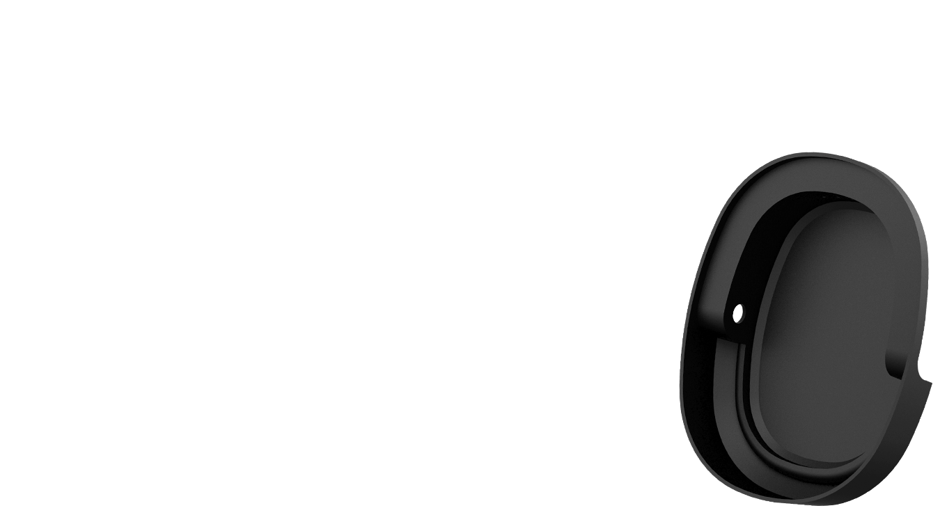 The ear cup divided into four elements highlights the position of airtight chambers and 40mm ASUS essence drivers.