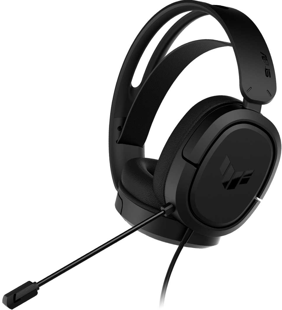 The left side of TUF Gaming H1 headset.