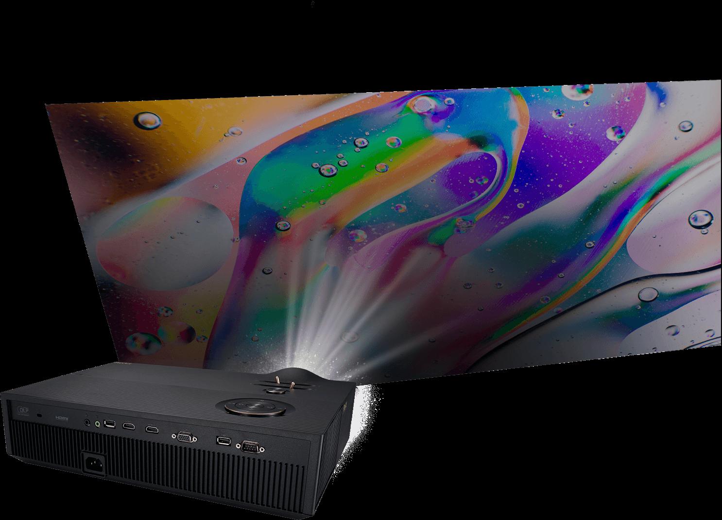 2D keystone adjustment through ProArt Projector A1