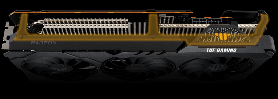 Radeon RX™ 6800 výztužný spodní plech z kovu