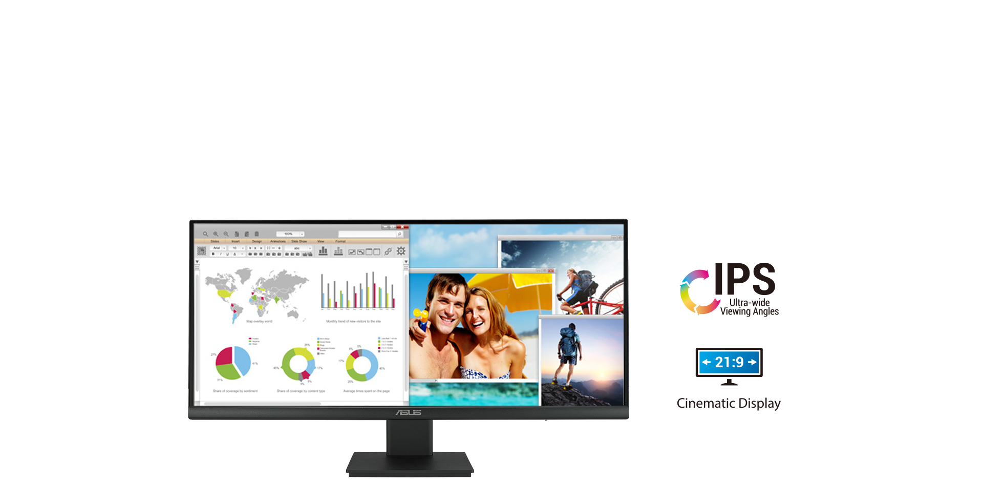 VP299CL Ultra-wide resolution enhance work and play
