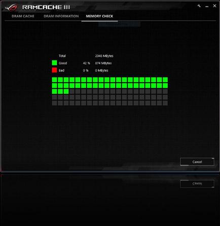 Die Benutzeroberfläche von RAMCache III