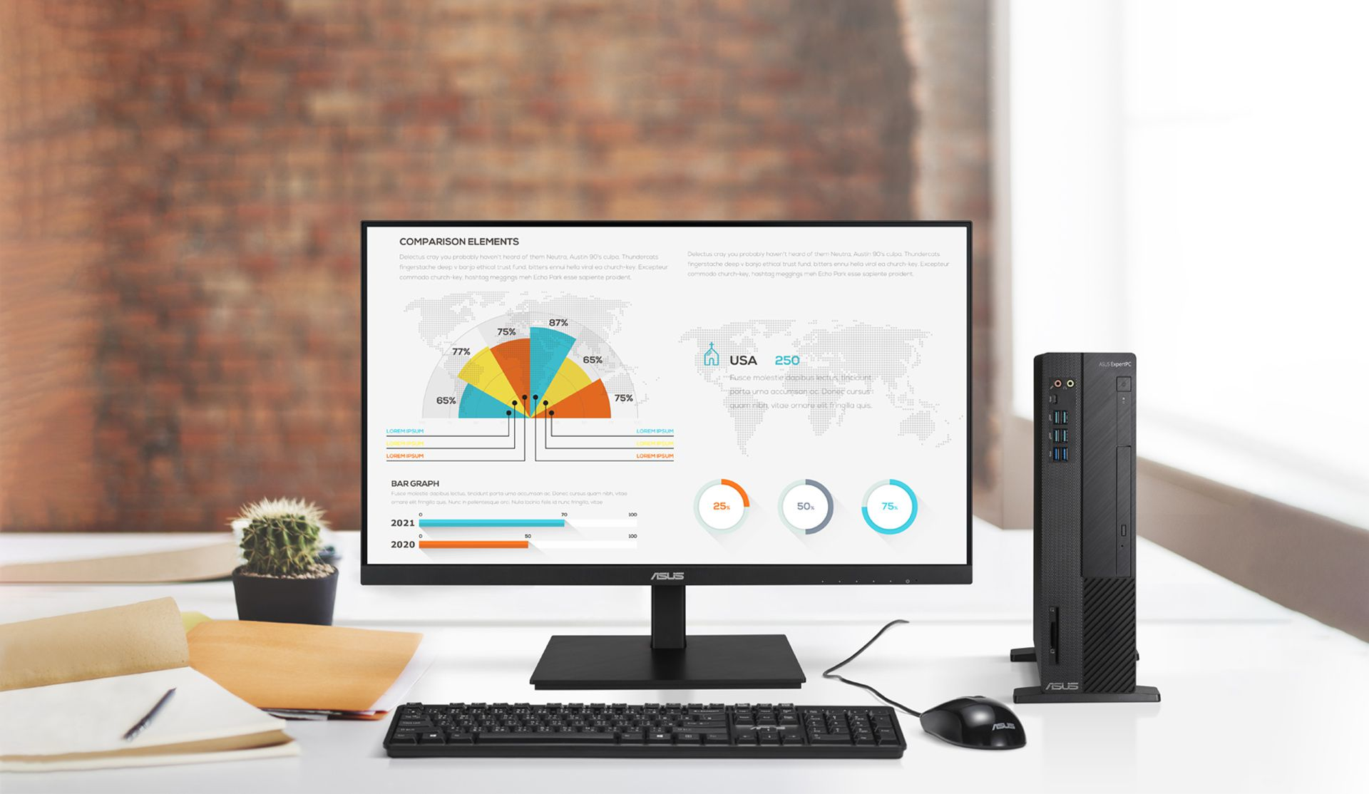 C1241QSB is a 23.8-inch Full HD monitor that features an integrated Full HD (2MP) webcam, microphone array and stereo speakers for video conferencing and live-streaming.