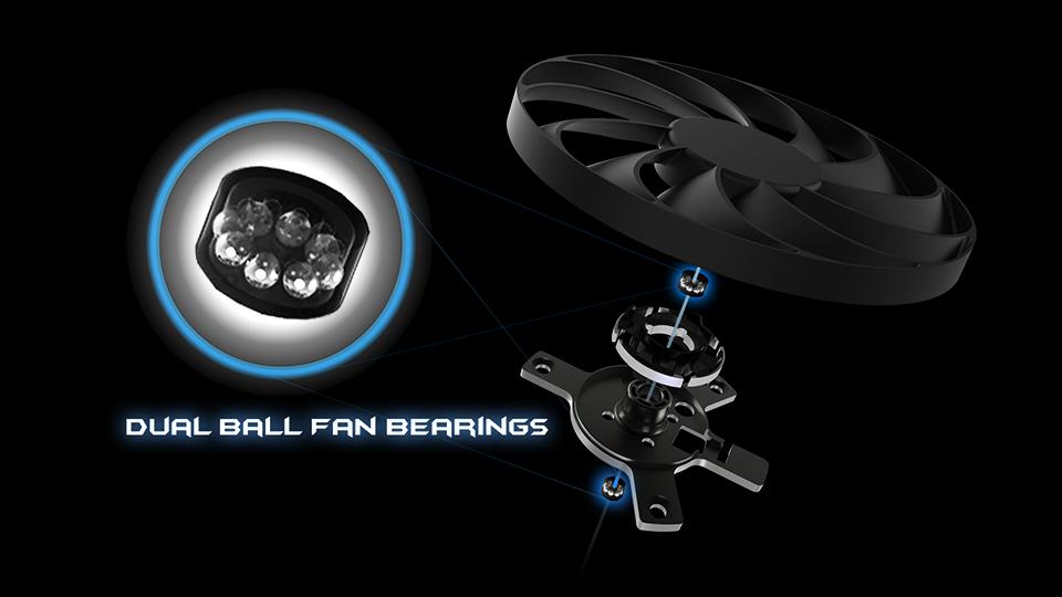 Dual Ball Fan Bearings