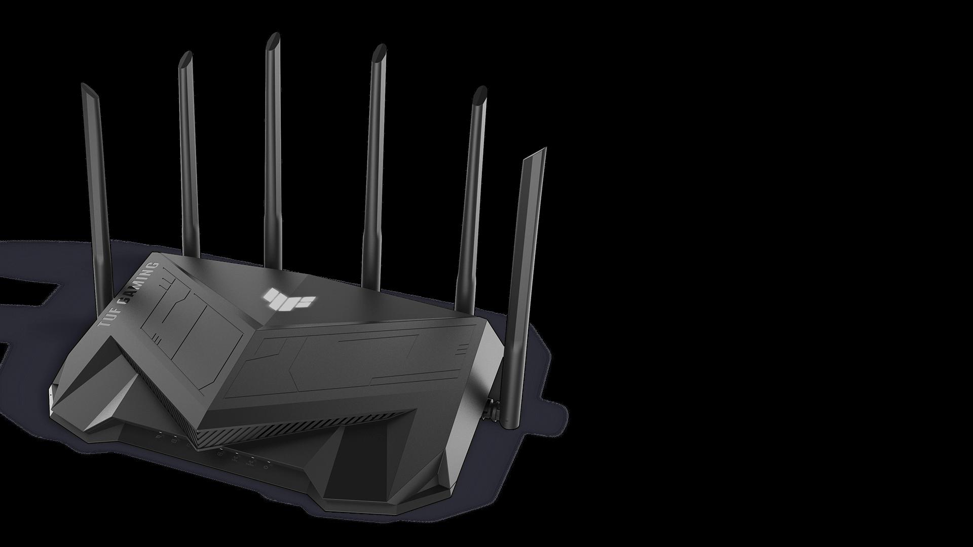 ASUS TUF Gaming AX5400 router met RGB-verlichting
