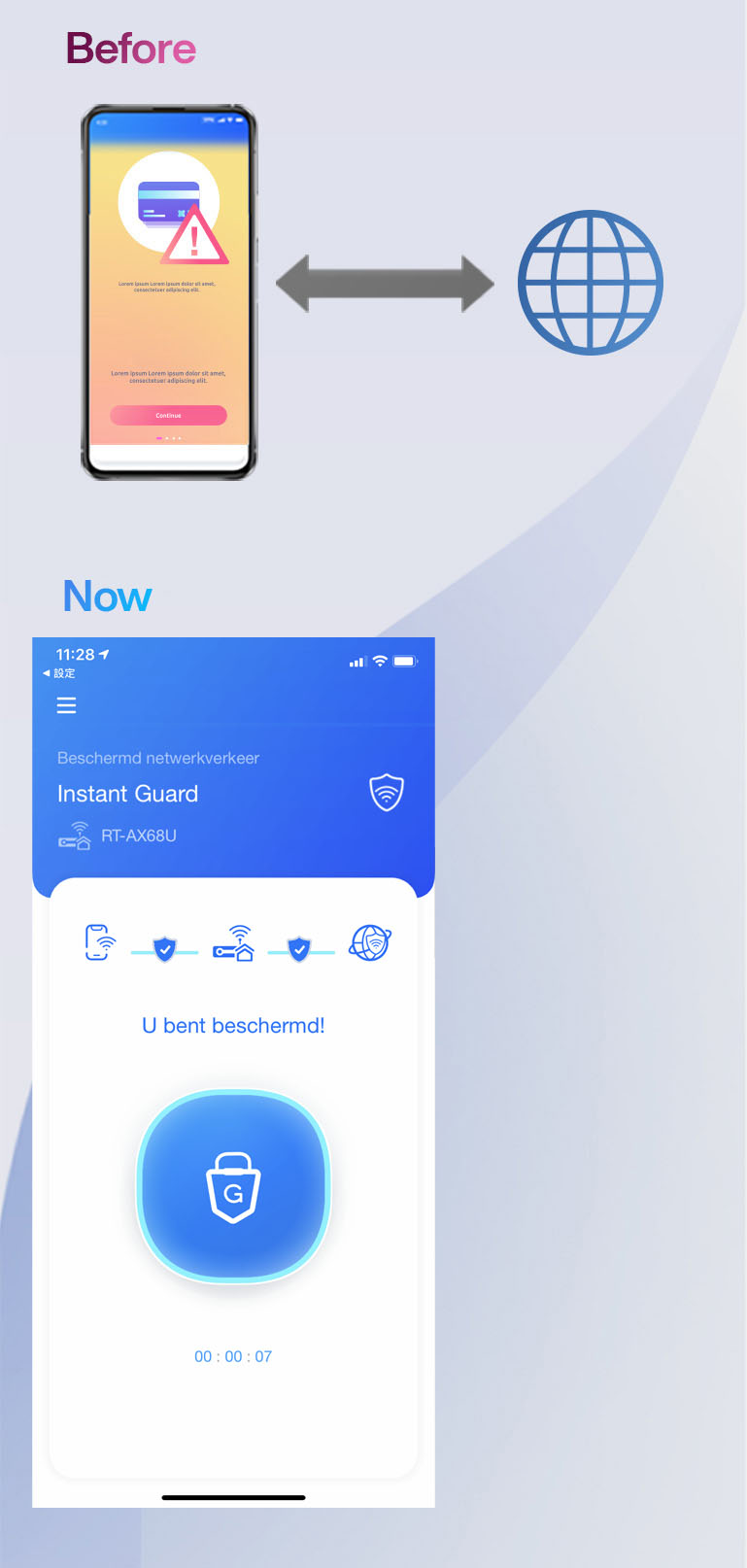 Instant Guard maakt gratis wifi veilig.