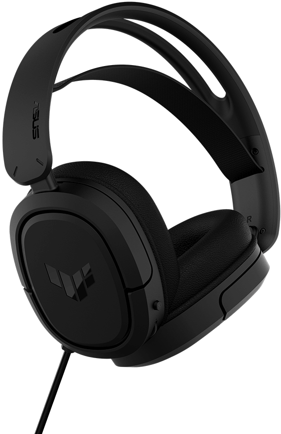 The bottom side angle of TUF Gaming H1 Wireless features its lightweight design.