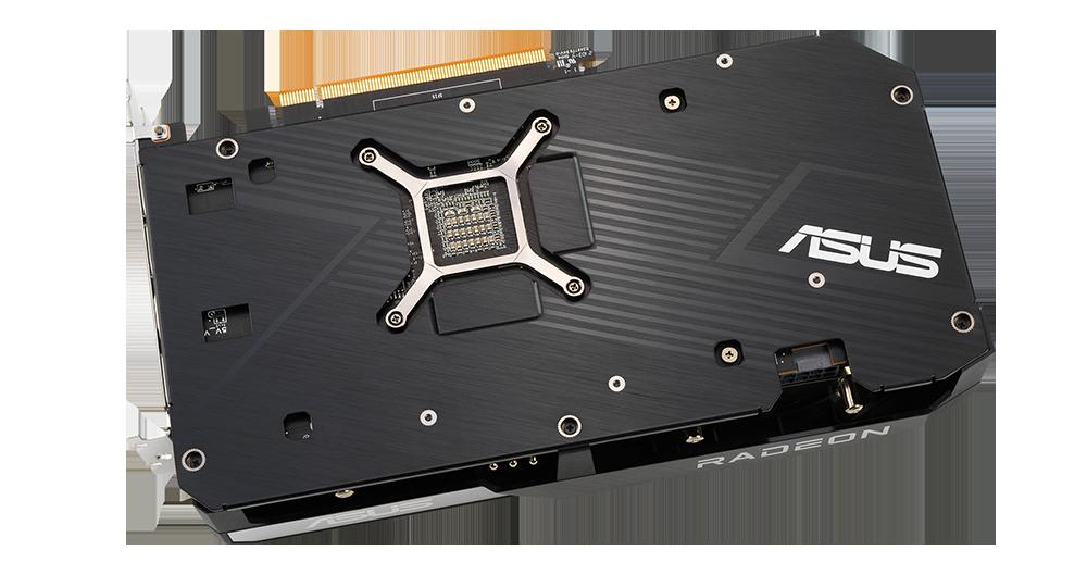 Zadní strana karty Dual Radeon™ RX 6700 XT