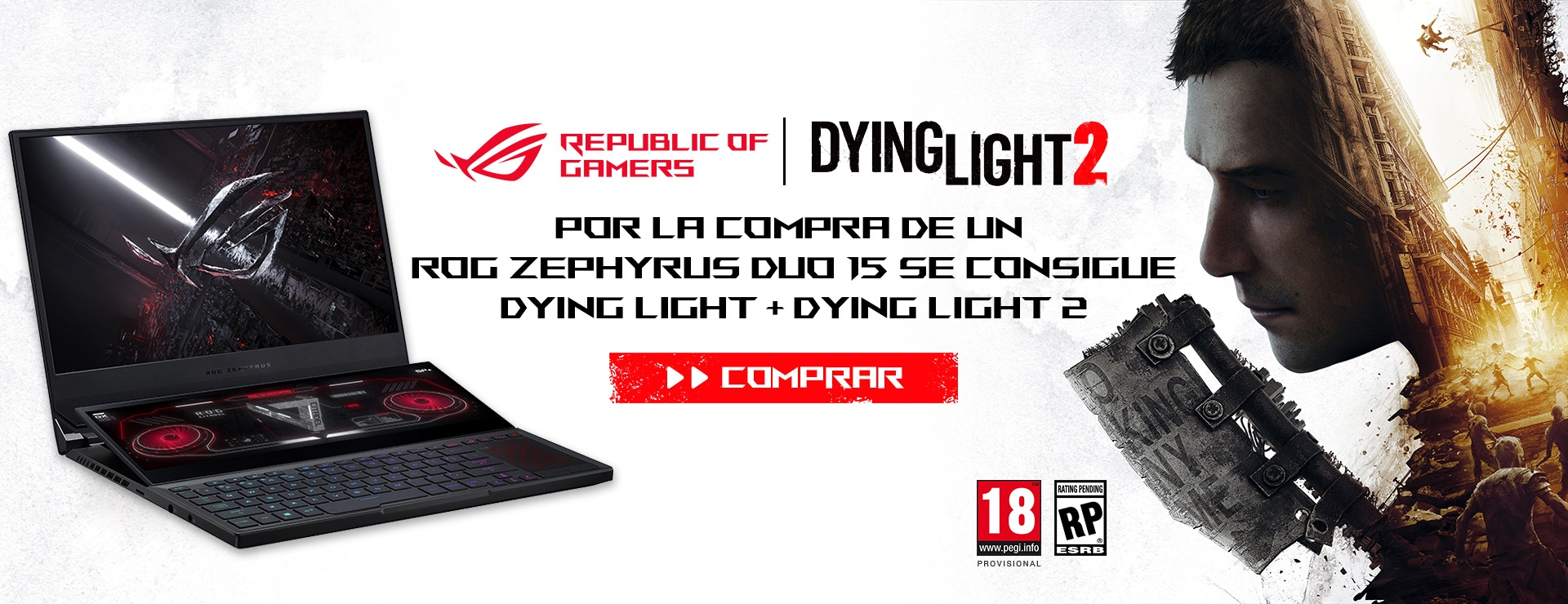 ROG Zephyrus Duo 15 SE + Dying Light
