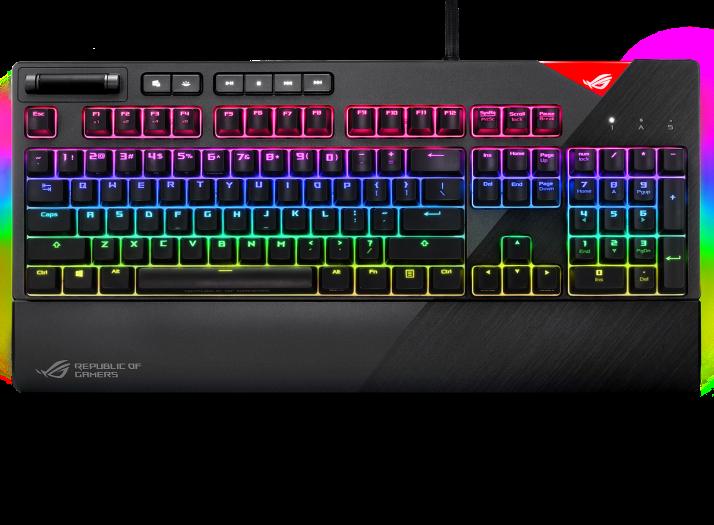 ASUS 華碩 ROG Strix Flare 104Keys 機械式遊戲鍵盤 (Cherry MX 紅軸 英文) (中文版請查詢)