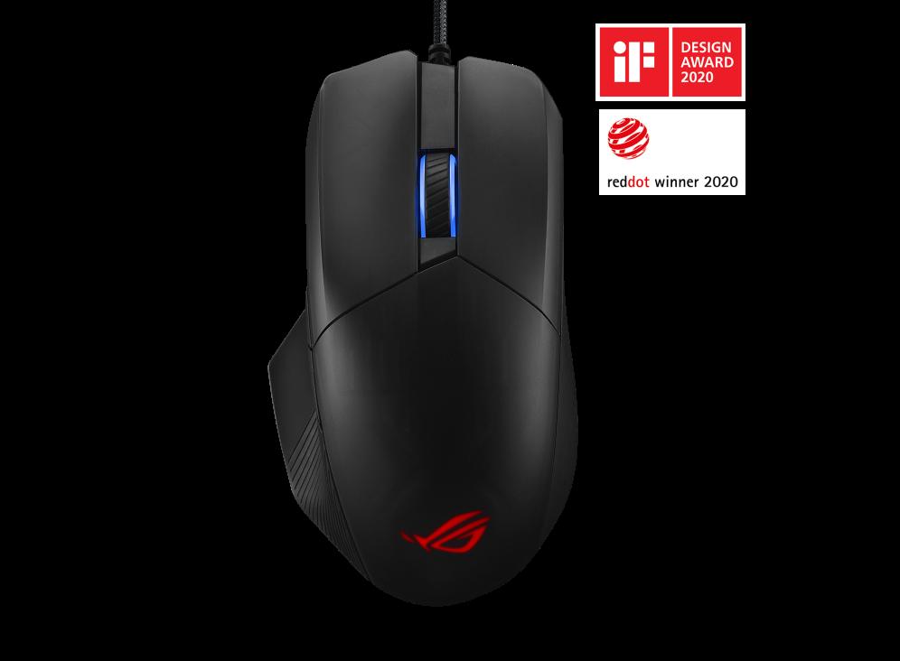 ASUS 華碩 Chakram Core 電競遊戲滑鼠 (附贈CERBERUS MAT 綠色滑鼠墊)