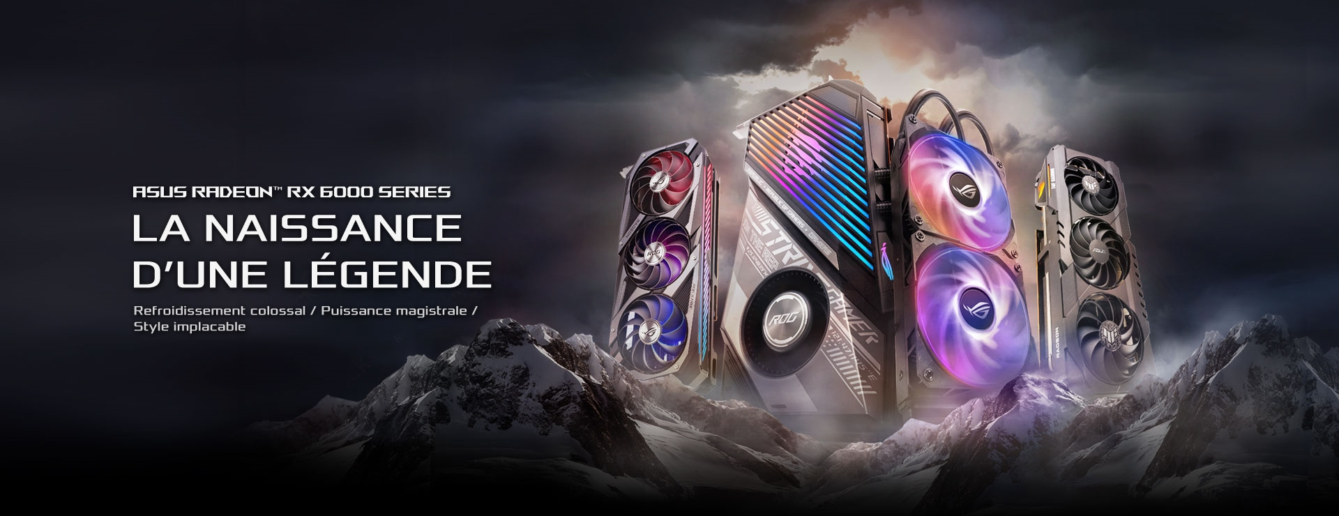 Cartes graphiques gaming RX6800, Republic of Gamers, ROG